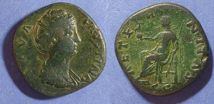 Ancient Coins - Faustina Sr. D. 141  Sestertius