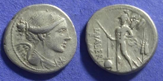 Ancient Coins - Roman Republic – Valeria 11 Denarius
