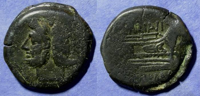 Ancient Coins - Roman Republic, C Maianius 153 BC, As