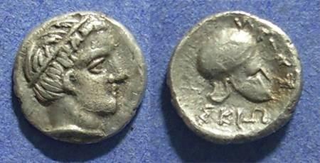 Ancient Coins - Macedonia, Skione 400-350 BC, Tetrobol