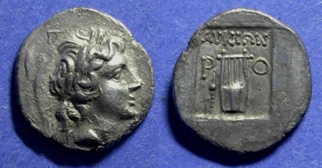 Ancient Coins - Lycian League, Rhodiapolis 167-100 BC, Drachm
