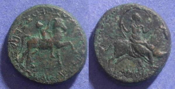 Ancient Coins - Amphipolis Macedonia, Caligula 37-41 AD, AE20