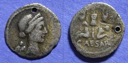 Ancient Coins - Roman Imperatorial, Julius Caesar 46/5 BC, Denarius