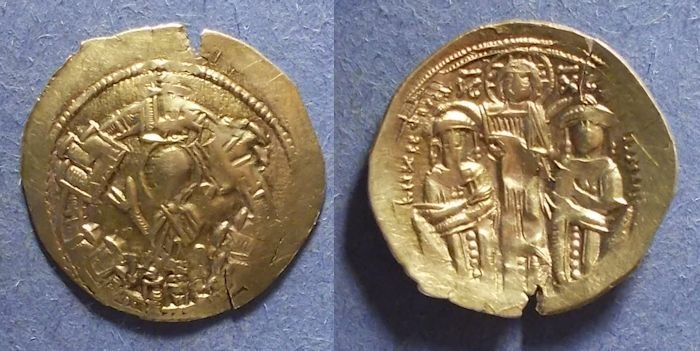 Ancient Coins - Byzantine Empire, Andronicus II & Michael IX 1295-1320, Hyperpyron