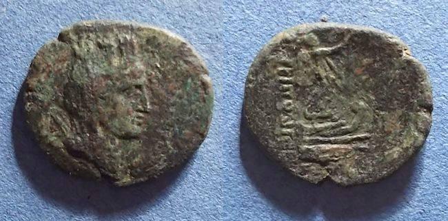 Ancient Coins - Tripolis, Phoenicia Circa 100 BC, AE26 X 23