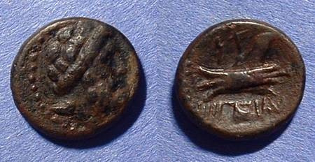 Ancient Coins - Arados Phoenicia AE-16 - 2nd Century BC