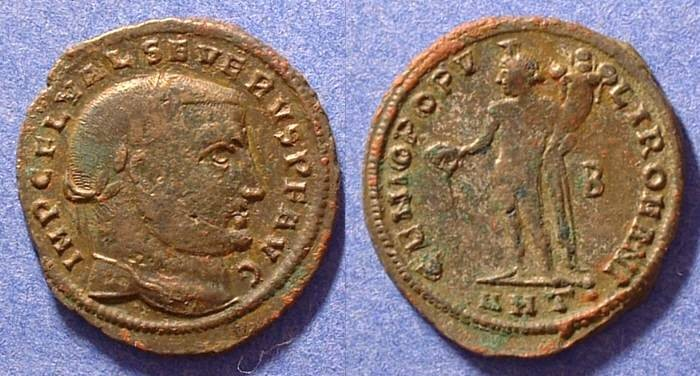 Ancient Coins - Severus II (as Augustus) 306-307 AD Follis of Antioch (Rare)
