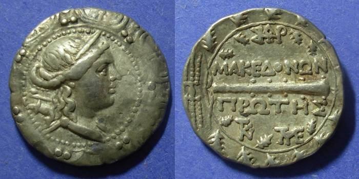 Ancient Coins - Macedonia, Roman rule 158-149 BC, Tetradrachm