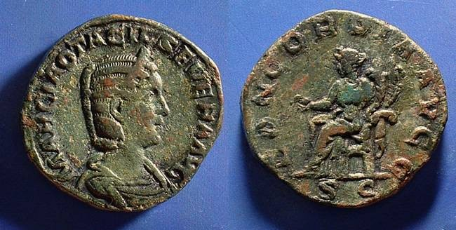 Ancient Coins - Otacilia Severa (Wife of Philip) 244-9 Sestertius