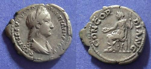 Ancient Coins - Roman Empire, Sabina d. 137, Denarius