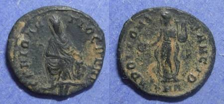 Ancient Coins - Roman Empire, Time of Maximinus II 305-313, 1/4 Follis