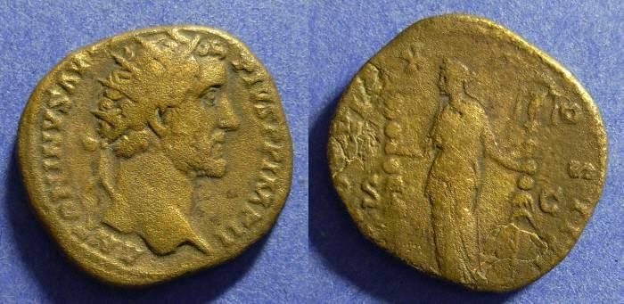 Ancient Coins - Antoninus Pius 138-161 Dupondus