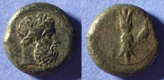 Ancient Coins - Syracuse Sicily - Timoleon 344-336 BC - AE Hemilitron