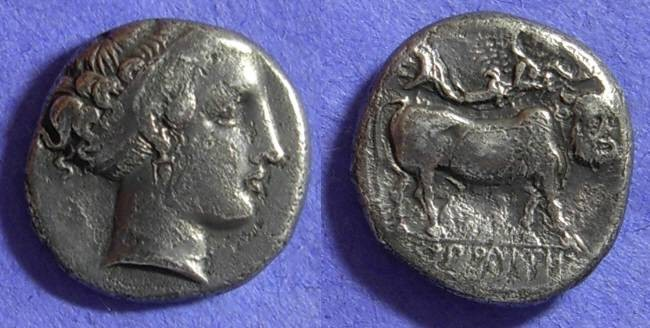 Ancient Coins - Neapolis Campania Nomos  350-325 BC