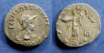 Ancient Coins - Bactrian Kingom, Menander 165-130 BC, Drachm
