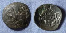 Ancient Coins - Byzantine Empire - Isaac II / Alexius III clipped trachy, circa 1200AD