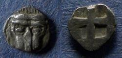 Ancient Coins - Bosporos, Pantikapaion, Imitative issue Circa 450 BC, Hemiobol