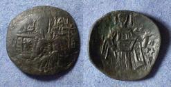 Ancient Coins - Byzantine Empire - Isaac II / Alexius III clipped trachy, circa 1200AD