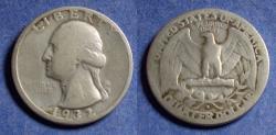 Us Coins - United States,  1932-D,  Washington Quarter, G+