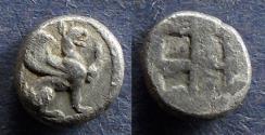 Ancient Coins - Ionia, Teos 480-450 BC, Diobol