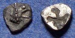Ancient Coins - Ionia, Teos (Phokaia?) Circa 510 BC, Silver Tetartemorion