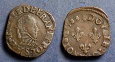 World Coins - France, Henri III 1588, Double Tournois
