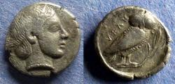 Ancient Coins - Lucania, Velia 465-440 BC, Drachm