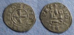 Ancient Coins - Frankish Greece: Athens, Guy II de la Roache 1294-1308, Denier