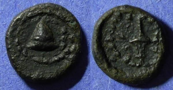 Ancient Coins - Paestum, Lucania Circa 200 BC, Quadrans