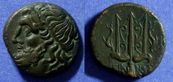 Ancient Coins - Syracuse Sicily Hieron II 275-215 BC AE19