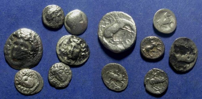 Ancient Coins - Thessaly - Group of 6 AR