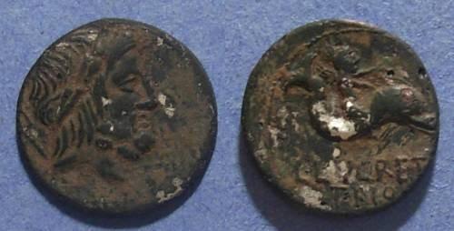 Ancient Coins - Roman Republic, L Lucretia Trio 76 BC, Fouree Denarius