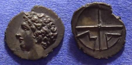 Ancient Coins - Massalia Gaul - Obol Circa 250 BC - Gorgeous