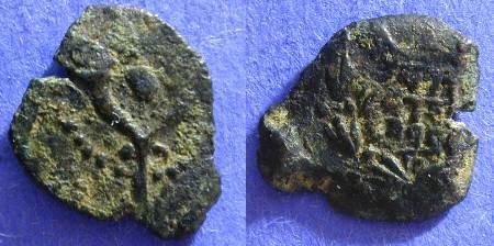 Ancient Coins - Judaea -John Hyrcanus I  Prutah 135-104 BC