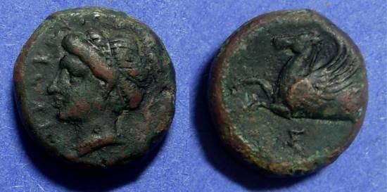 Ancient Coins - Syracuse Sicily 344-336 BC Hemilitra