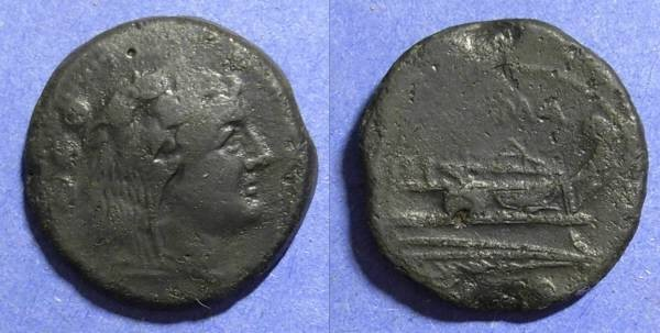 Ancient Coins - Roman Republic, Anonymous 211-206 BC, Quadrans