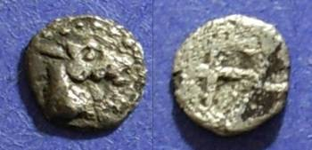 Ancient Coins - Thraco-Macedonian, Uncertain 500-450 BC, Hemiobol