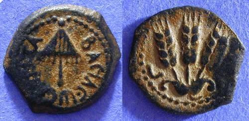 Ancient Coins - Judaea - Agrippa I 37-44 AD - Prutah