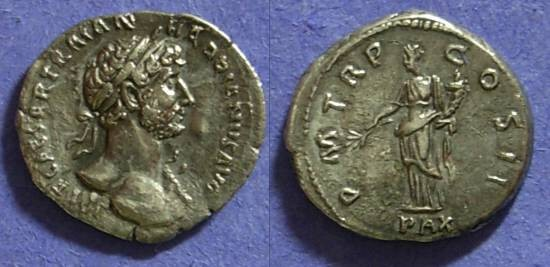 Ancient Coins - Hadrian 117-138 - Denarius