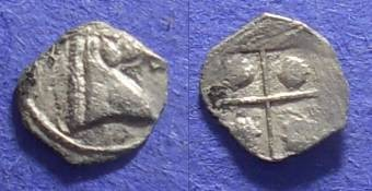 Ancient Coins - Macedonian Kingdom: Alexander I 495-454 BC – ¼ Obol