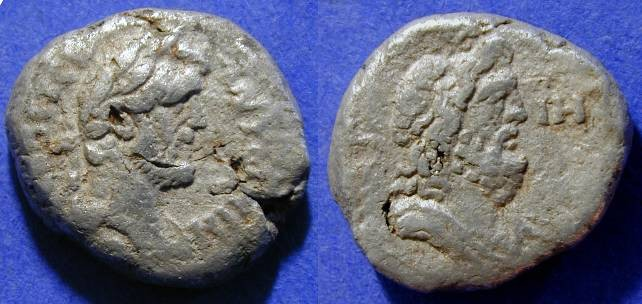 Ancient Coins - Antoninus Pius 138-161AD - Tetradrachm of Alexandria