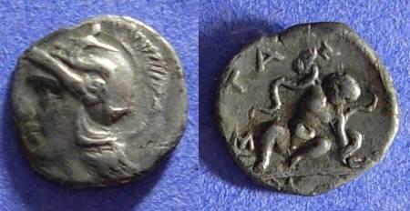 Ancient Coins - Taras Calabria - Diobol 302-228 BC