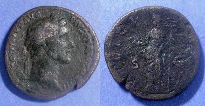 Ancient Coins - Roman Empire, Antoninus Pius 138-161, Sestertius