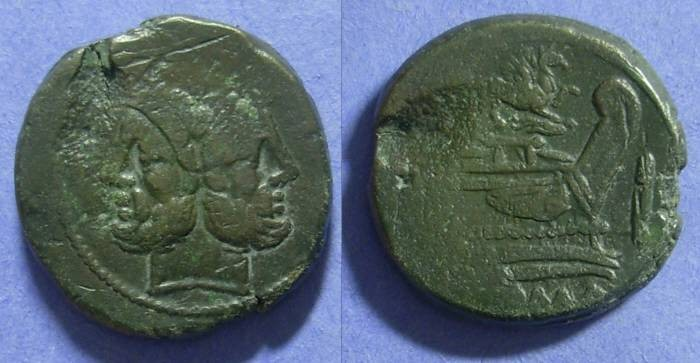Ancient Coins - Roman Republic – Aes 169-158 BC