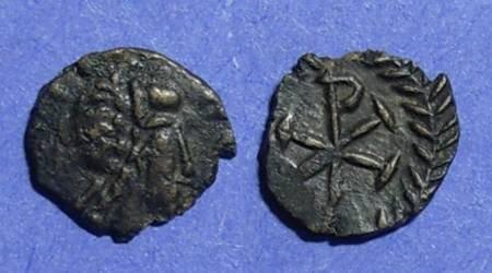 Ancient Coins - Vandals, Hilderic or Gelimer Circa 530 AD, Nummis