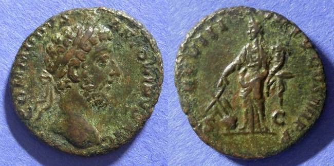Ancient Coins - Roman Empire, Commodus 177-192, As