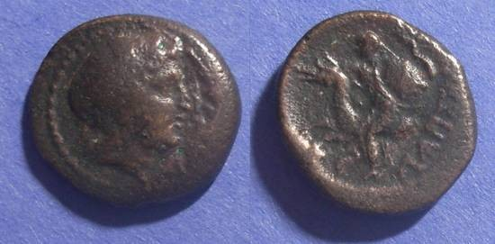 Ancient Coins - Larissa Kremaste, Thessaly Circa 350 BC, AE21