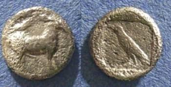 Ancient Coins - Mende, Macedonia 460-423 BC, Tritartemorion