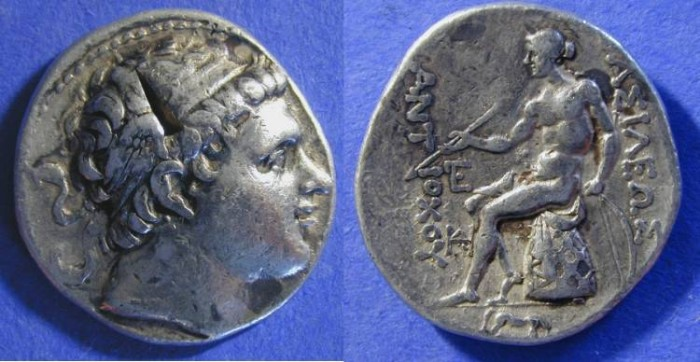 Ancient Coins - Seleucid Kingdom: Antiochos II 261-246 Tetradrachm - Winged Diadem
