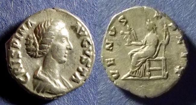 Ancient Coins - Roman Empire, Crispina 178-182, Denarius